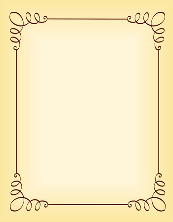 Ilustración de Unique ornamental border / frame for party invitation backgrounds - Imagen libre de derechos