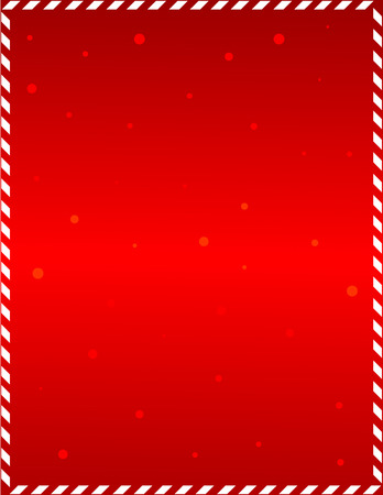 Ilustración de Elegant red frame with candy cane border and falling snow - Imagen libre de derechos