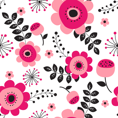 Illustration for Spring flowers seamless pattern Small floral pattern floral illustration and floral vector pattern flower pattern fabric - Royalty Free Image