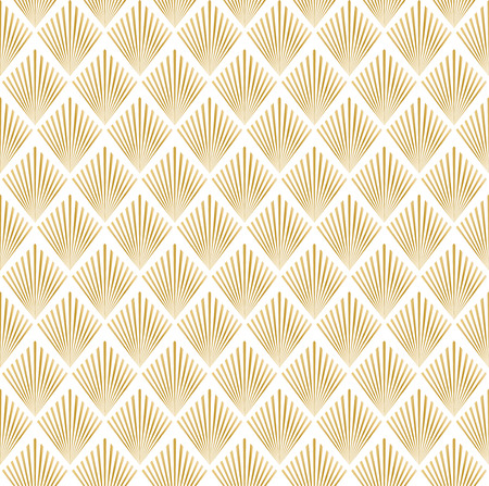Illustration pour illustration of golden and white seamless pattern in art deco style - image libre de droit