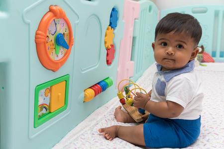 Foto für Cute little baby play toys - Lizenzfreies Bild