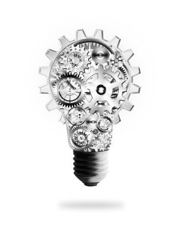 Photo for light bulb design by cogs and gears , creative idea concept - Royalty Free Image