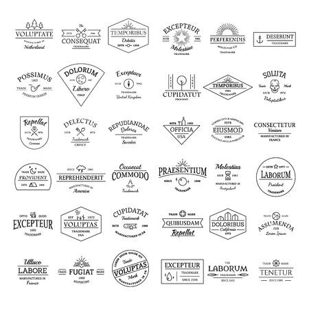 Illustration pour Vintage retro logo badges set illustration vector - image libre de droit