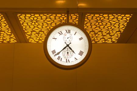 Big size swiss make clock at the Airport