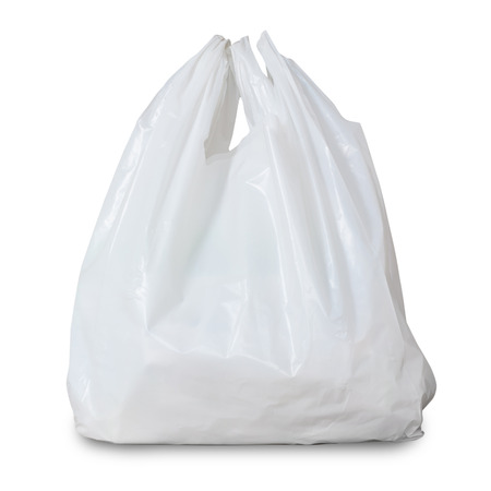 Photo for white plastic bag - Royalty Free Image