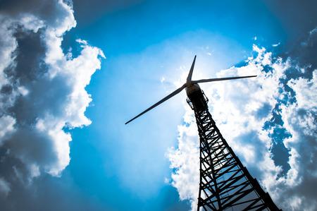 Photo pour The wind turbine generator,the renewable energy - image libre de droit