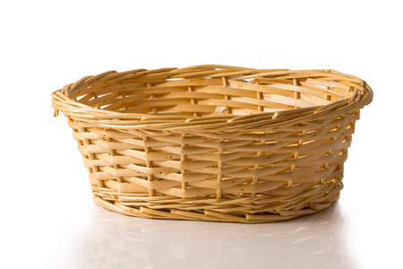 Photo for Wicker basket isolated on white background - Royalty Free Image