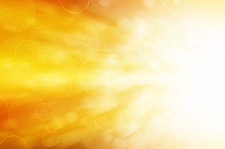Foto per yellow light and circles abstract background - Immagine Royalty Free