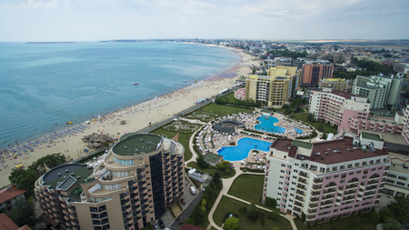 Photo for Aerial view of Sunny Beach, Bulgaria - Royalty Free Image