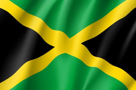 Illustration pour Flag Jamaica realistic icon - image libre de droit
