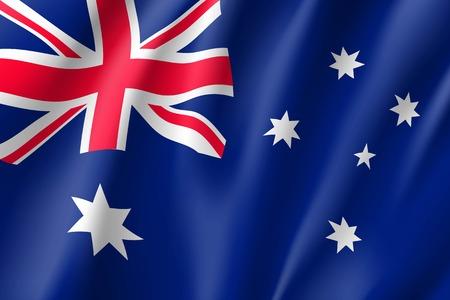 Illustration for Waving flag of Australia - Royalty Free Image