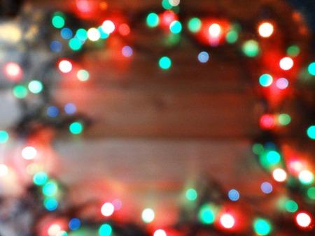 Foto de abstract background colorful blurred chrismas light garland - Imagen libre de derechos