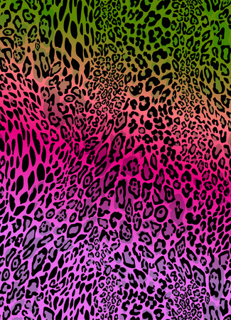Ilustración de colorful animal print seamless vector background - Imagen libre de derechos