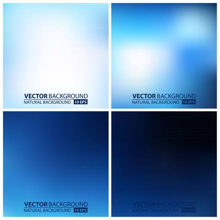 Ilustración de Smooth colorful backgrounds collection with aged effect - eps10. set of blue vector backgrounds - Imagen libre de derechos