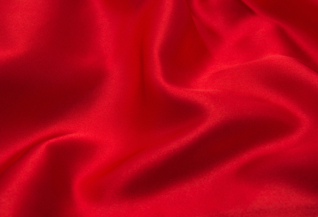 Photo for red satin or silk fabric as background - Royalty Free Image