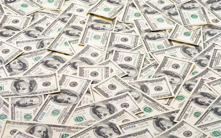 Foto de Background of 100 dollar bills - Imagen libre de derechos