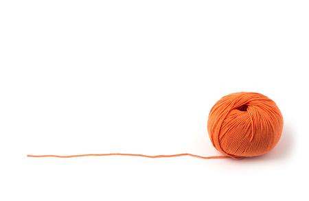 Foto de Ball of yarn on white background - Imagen libre de derechos