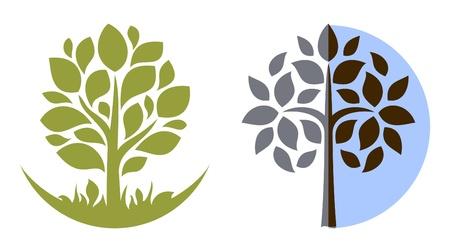 Illustration pour Vector tree emblem 3 - image libre de droit