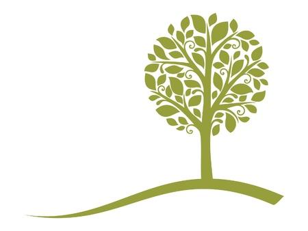 Illustration for Vector tree emblem 4 - Royalty Free Image