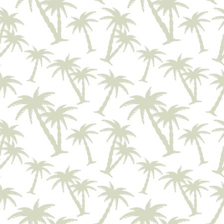 Foto de Abstract floral seamless pattern with silhouettes tropical coconut palm trees. Beach background. Summer, tropics, rain forest. Endless print texture - vector - Imagen libre de derechos