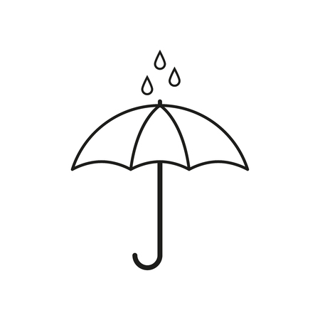 Illustration for Umbrella for rain icon Vector illustration. - Royalty Free Image