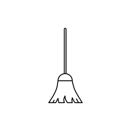 Illustration pour Broom of icon on the white background - image libre de droit