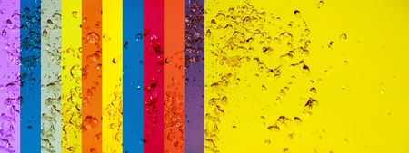 Mulricolor, colourful, rainbow, water, banners, backgrounds, drops