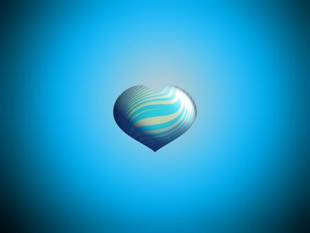 Foto de Blue freedom balloon background - Imagen libre de derechos