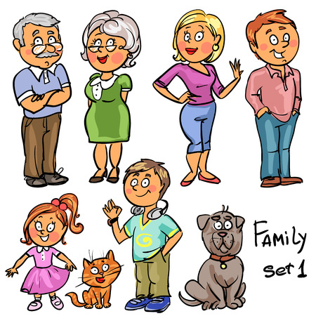 Illustration pour Family - set 1 - image libre de droit