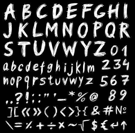Illustration pour Alphabet, set of font letters and symbols - image libre de droit