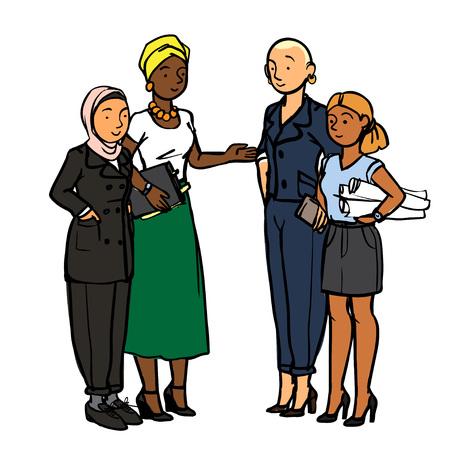 Ilustración de Business People - Situation at Work - Imagen libre de derechos