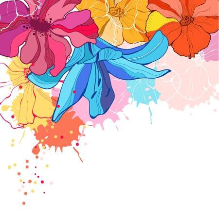 Vector illustration with flowers