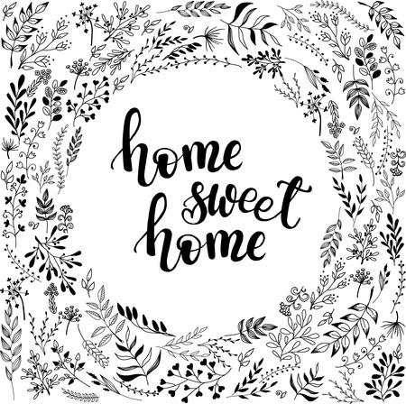 Ilustración de 'home sweet home' poster, banner design - Imagen libre de derechos