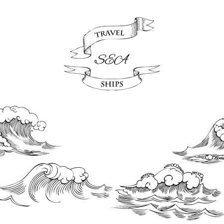 Ilustración de Background with waves. Vector Illustration - Imagen libre de derechos