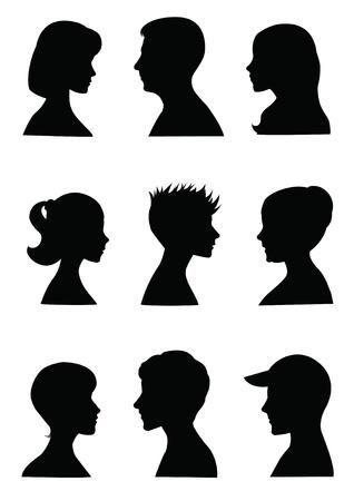 Illustration for Anonymous Mugshots  - Royalty Free Image