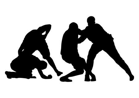 Illustrazione per street fight - Immagini Royalty Free