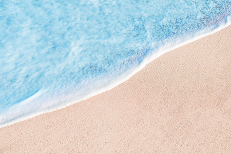 Foto de Beach, sand and blue ocean. Summer Background.  Copy space - Imagen libre de derechos