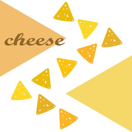 Cheese vector, appetizing cheese background, dairy product.