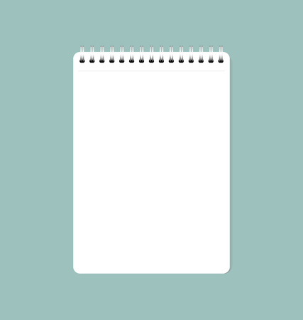 Illustration for A Vector illustration of white clean sheet of paper from notebook, ready for your message. - Royalty Free Image