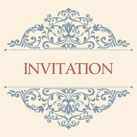 Foto per vintage greeting card, invitation with floral ornaments, beautiful, luxury postcards - Immagine Royalty Free