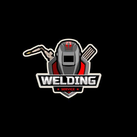 Ilustración de mask Welding cutting torch with logo vector - Imagen libre de derechos