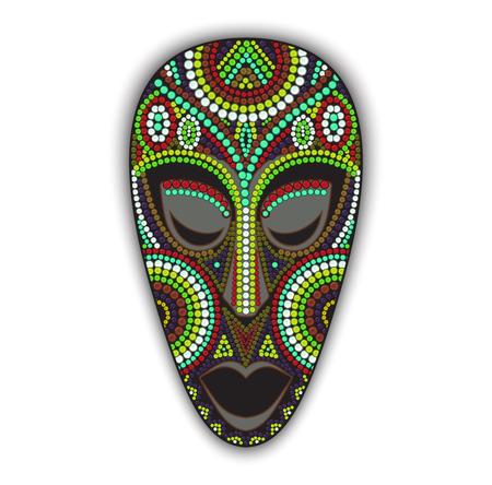 Ilustración de Vector colorful ethnic african mask - Imagen libre de derechos