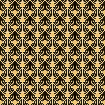 Illustration for Art Deco style seamless pattern texture. - Royalty Free Image