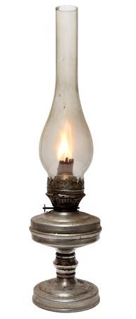 Photo for oil lamp. old kerosene lamp isolated on white . oil-stove - Royalty Free Image