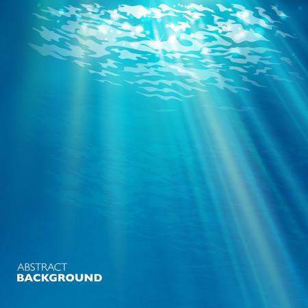 Illustration pour Vector under water background. Design template. Blue deep sea. - image libre de droit
