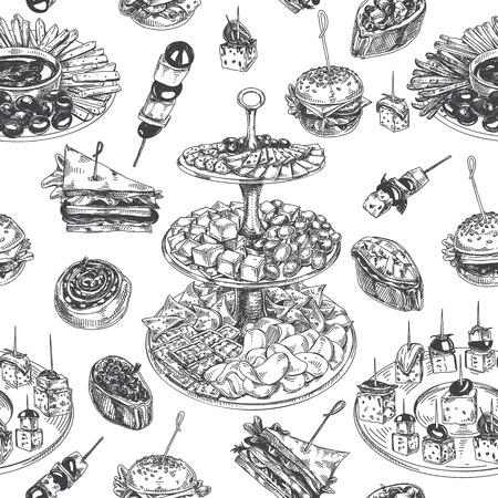 Ilustración de Beautiful hand drawn Appetizer Illustration - Imagen libre de derechos