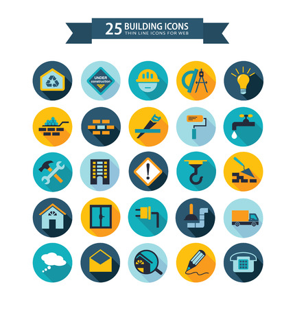 Photo pour Flat building icons - image libre de droit