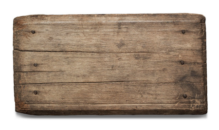 Photo for Old plank of wood isolated on white background with Clipping Path. - Royalty Free Image