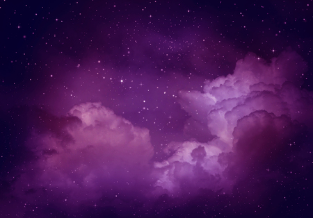 Photo pour Stars in the night sky,purple background. - image libre de droit