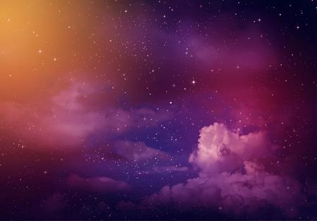 Photo pour Stars in the night sky,purple background. - image libre de droit